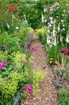 A colourful garden path