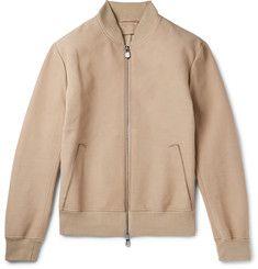 BerlutiNubuck Leather Bomber Jacket