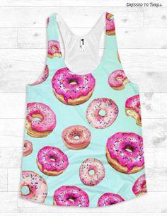 PASTEL DONUTS  racerback tank kawaii doughnuts donut care