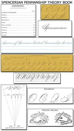 Spencerian Penmanship Copybooks help your student learn elegant penmanship and cursive handwriting--the old fashioned way. Learn Handwriting, Handwriting Analysis, Calligraphy Handwriting, Calligraphy Letters, Penmanship Practice, Calligraphy Practice, How To Write Calligraphy, Calligraphy Tutorial, Lettering Tutorial