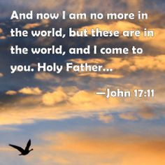 John 17 & 11 ,  ... keep through your own name those whom you have given me, that they may be one, as we are.