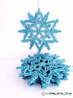 Crochet PATTERNS Christmas Snowflake Ornaments PDF Pattern Instant Download Lace snowflakes home gift Decoration Home Decor wall hanging