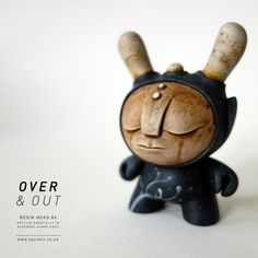"SpankyStokes.com | Vinyl Toys, Art, Culture,  Everything Inbetween: COMING TOMORROW: Squink!'s ""Over  Out"" custom resin-headed Dunnys in ""Day One"" colorway!"