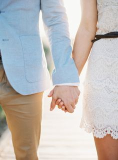Lace dresses are always a win! Especially with a damper dude in a well-tailored suit jacket by your side.