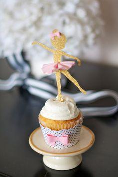 Ballerina Cupcake Toppers  Little Dancer 12 by VanessaGrantEvents