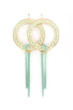 Mint dangle earring