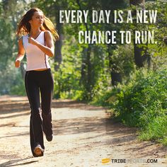 Every day is a new chance to run! #tribesports #jointhetribe #challengeyourself #fitness #motivation #fitspo #inspiration #quote #body #improvement #running #run