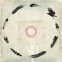 flight path by fiona watson art, Artist Study , circles , Art Featuring Circles… Spiritus, Feather Painting, Bird Art, Oeuvre D'art, Printmaking, Illustration Art, Creations, Sketches, Abstract