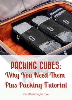 Learn how to pack light with packing cubes. The ultimate travel organizers, they help maximize your belongings with minimal space. Watch the video tutorial!