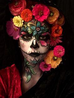 Pretty and Creepy Sugar Skull by Brian Fountain