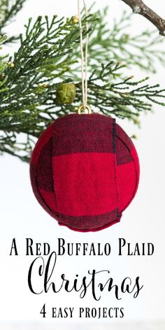 Would you like to add a little farmhouse or rustic charm to your Christmas décor? Here are four projects that are budget-friendly and easy to make. Includes a Christmas tree ornament, table runner, pillow cover and pine door swag.