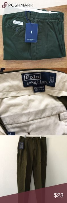 Polo for Ralph Lauren Andrew Pant NWT Classic Chino. 100% cotton 33 waist 32 inch inseam. Green. New with tags's Polo by Ralph Lauren Pants Chinos & Khakis