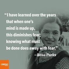 ~ Rosa Parks -- (Graphic: Credo Mobile)