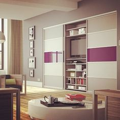 Our new Stone Grey, Mussel and Aubergine sliding wardrobes are perfect for any room or any space! #sliderobes #sliderobesuk #wardrobe #wardrobes #interiordesign #interior #design #sleek #contemporary #living #style #space #grey #aubergine #mussel #sliding #doors #designfusion #spacesaving #storage #colourblocking