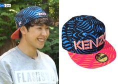 "Park Min-Woo 박민우 on ""Roommate"" Episode 10.  Kenzo x New Era Resort 2014 Line-Print Hat  #Roommate 룸메이트 #ParkMinWoo"