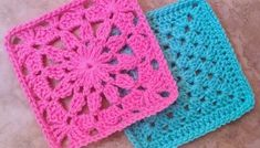 Crochet Plain Granny Square, One Color or Multi-Color - cypress|textiles Free Crochet Square, Crochet Blocks, Granny Square Crochet Pattern, Afghan Crochet Patterns, Crochet Squares, Granny Squares, Blanket Patterns, Blanket Design, Block Patterns