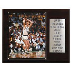 NBA 12 x 15 in. Larry Bird Boston Celtics Career Stat Plaque - 1215BIRDST