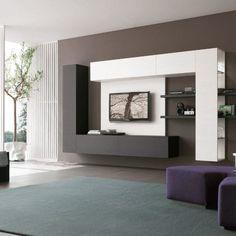 TV shelf for each veliinu living roomliving Beautiful Living Rooms, Living Room Modern, Living Room Designs, Media Room Design, Tv Wall Design, Wall Unit Designs, Showroom Interior Design, Living Room Tv Unit, Location