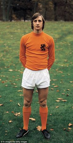 Holland great Johan Cruyff passed away at the age of 68 on Thursday. Here, Sportsmail celebrates his amazing contribution to football with a selection of the best pictures from his professional life. Football Drills, Football Icon, Retro Football, Football Kits, Vintage Football, Football Cards, Football Jerseys, Vintage Jerseys, American Football