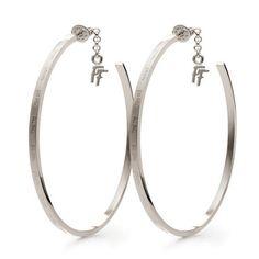 Discover unique earrings by Folli Follie! Buy your favorite earrings online! Hoop Earrings, Jewellery Earrings, Jewelry, Unique Earrings, Bracelets, Silver, Letter, Stuff To Buy, Accessories