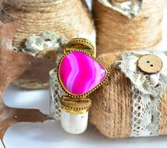 Pink agate stone bracelet ,Camel bone cuff bracelet,Afghan bracelet,Kuchi bracelet,Gypsy bracelet,Afghan jewelry,Bracelet,FREE SHIPPING by ZsTribalTreasures on Etsy