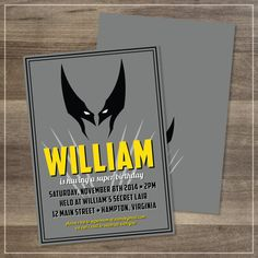 Birthday Party // Wolverine // Customizable // DIGITAL FILE // $12.00 // by Amanda Franks Designs on Etsy