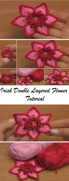 Irish Double Layered Flower Tutorial