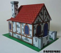 Papermau: A Simple Hut Paper Model - Colored Version - by Papermau Download Now!