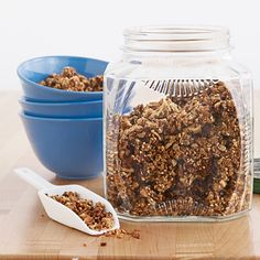 Cinnamon-Walnut Granola. Kids can even help you make it! #snack #recipes