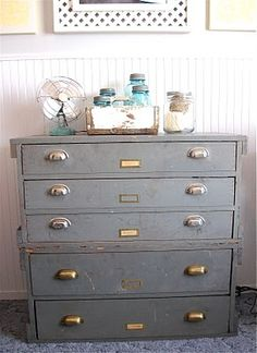 Great metal drawers             Reclaimed Bliss