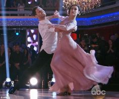 Team to beat: Rumer Willis took the early lead with pro partner Valentin Chmerkovskiy as the pair scored the most points on Monday's season premiere of Dancing With The Stars
