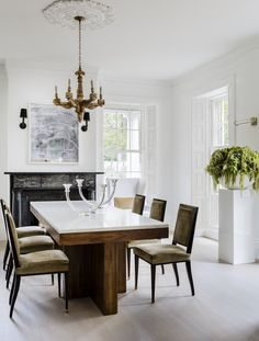Home Decor Hallway Formal Dining Room at Governor's Summer House.Home Decor Hallway Formal Dining Room at Governor's Summer House World Of Interiors, Bamboo Dining Chairs, Dining Table, Dining Rooms, Plywood Furniture, Furniture Design, Rooms Furniture, Furniture Ideas, Greek Revival Home