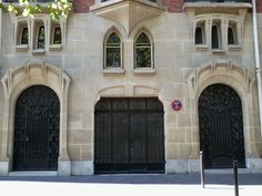 Art Nouveau: Porte (57) 10 et 10bis, Avenue Elisée Reclus - PARIS VII - hôtel Rateau - architecte Lucien Hesse (1910-11)