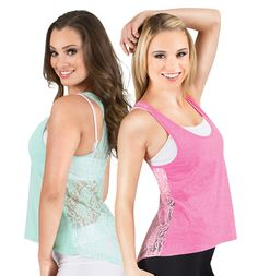 Hi-Lo Lace Back Tank Top - Tees & Tanks | DiscountDance.com #discountdance #croptops