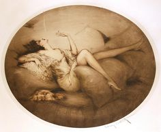 "Louis Icart (French, 1888-1950), ""Cigarette Memories"""