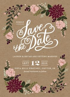 Our official save the dates