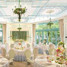 結婚式場写真「爽やかなミントグリーンがテーマカラーの「テール」隣接したテラスでは、フォトタイムやデザートビュッフェでアットホームウェディングが叶う!【デゼーロエリア】」 【みんなのウェディング】