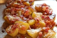 Oven Roasted Potatoes with Bacon & Parmesan