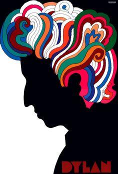 El Bob Dylan de Milton Glaser de 1966