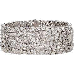 Monique Péan Atelier Women's Diamond Bracelet ($211,000) ❤ liked on Polyvore featuring jewelry, bracelets, colorless, 18k bangle, diamond bangles, diamond jewellery, monique pean jewelry and clear jewelry