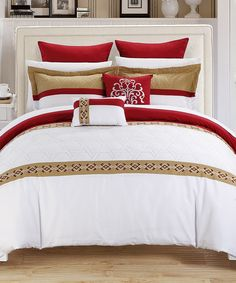 Look at this Burgundy Neptune Comforter Set on #zulily today!