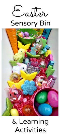 Easter Sensory Bin and Preschool Learning Activities for Kids
