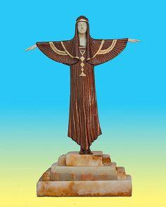 Demetre Chiparus-Bronze Sculpture- The Creed : Lot 256