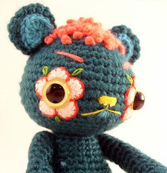 Flower mask bear assembled | Flickr - Photo Sharing!