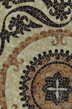 Suzani jewel glass mosaic in Jasper, Carnelian, Agate and Quartz   New Ravenna