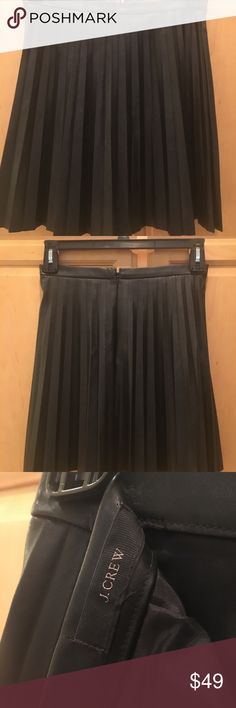 Jcrew leather skirt Leather JCrew skirt black... super cute with a t shirt or a blouse... J. Crew Skirts Mini