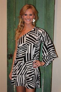 Parker Dress | Black & White Dress | www.sabiboutique.com