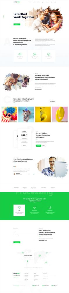 Conpress is clean and modern design #PSD template for #business agency website with 35 layered PSD pages download now..