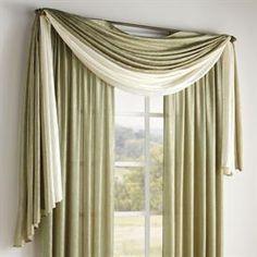 Crushed Taffeta Scarf Valance & Rod Pocket Panel | Curtains & Drapes | Brylanehome