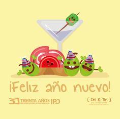 ¡Feliz Año nuevo!  de parte de Del y Tin. http://delytin.com/